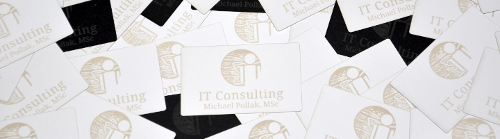 Visitenkarten IT Consulting Michael Pollak, MSc